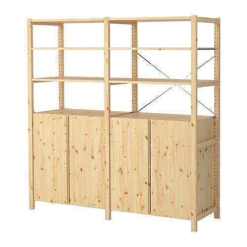 ivar 2 sections tablettes l ment pin cellier. Black Bedroom Furniture Sets. Home Design Ideas