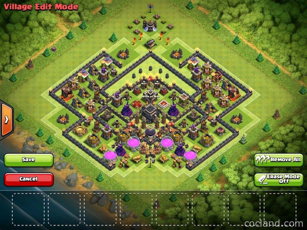 Base Coc Th 9 Trophy Champion 3