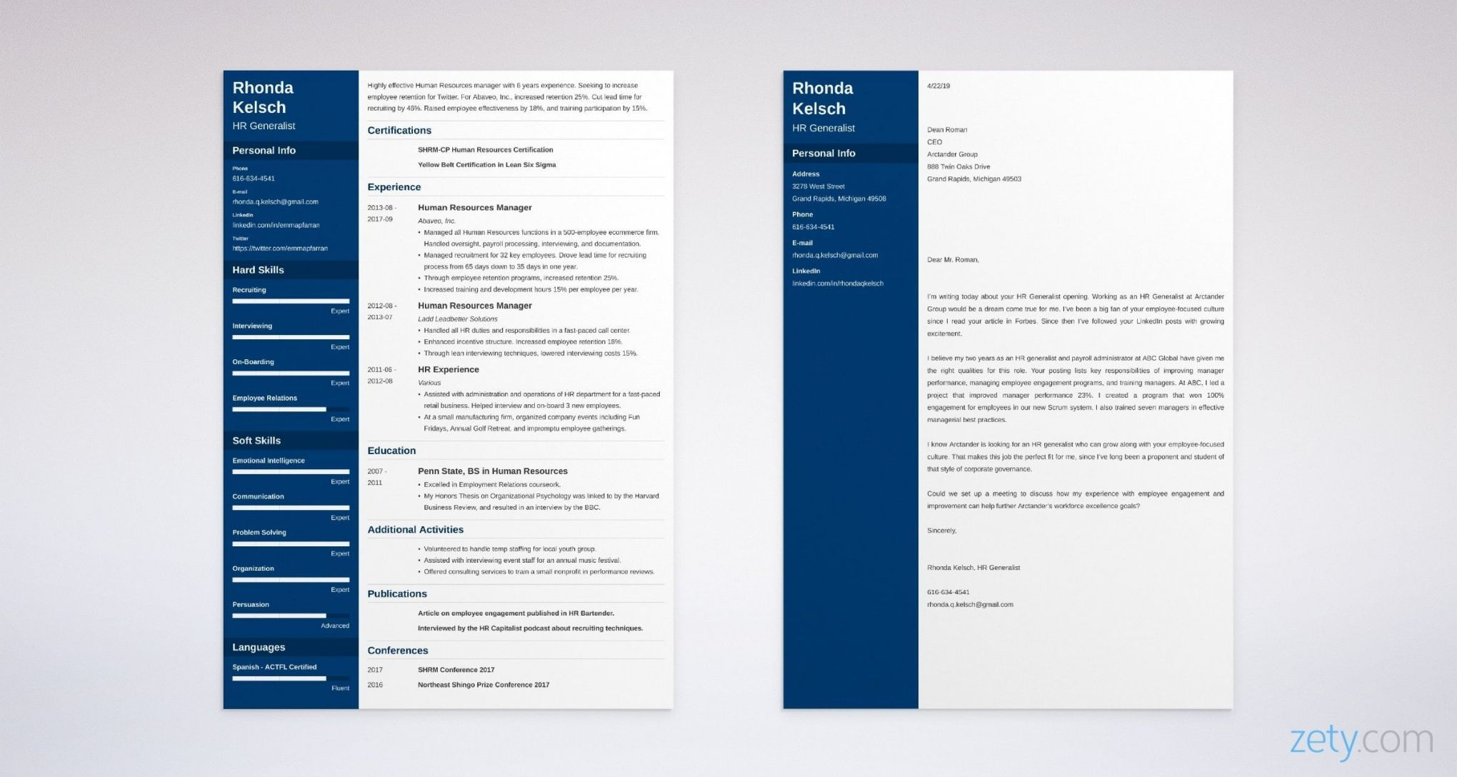 Explore our example of hr generalist cover letter template