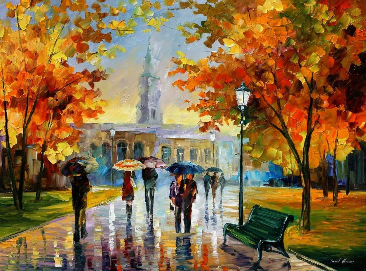 Size 72 x48 leonid afremov oil on canvas palette knife for Online art gallery paintings