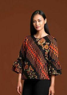 5 Dari 50 Lebih Gambar Model Baju Batik Modern Terbaru 2018 Yang Dapat Menginspi Fashion With A Cultural Flav Di 2020 Model Baju Wanita Desain Blus Pakaian Wanita