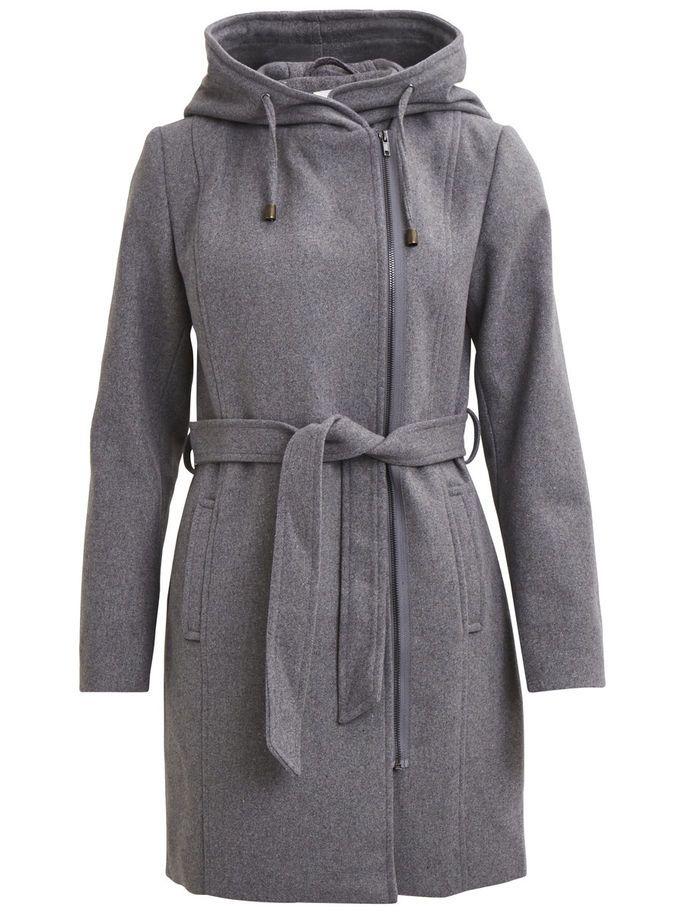 Vila Winter Coat Light Grey Melange
