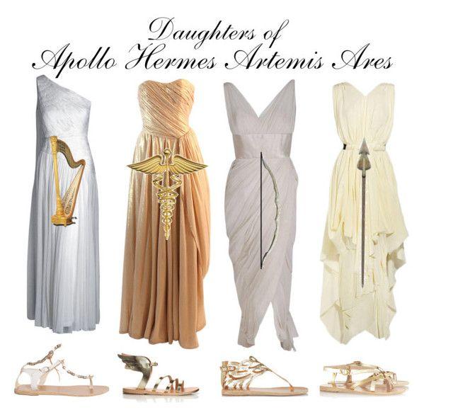 """Greek Goddesses"" by bsalvinski6364 on Polyvore featuring beauty, Ancient Greek Sandals, Vionnet and Hermès"