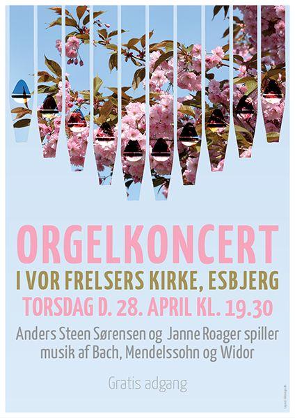 organ concert poster made by kåre roager 68design graphic design