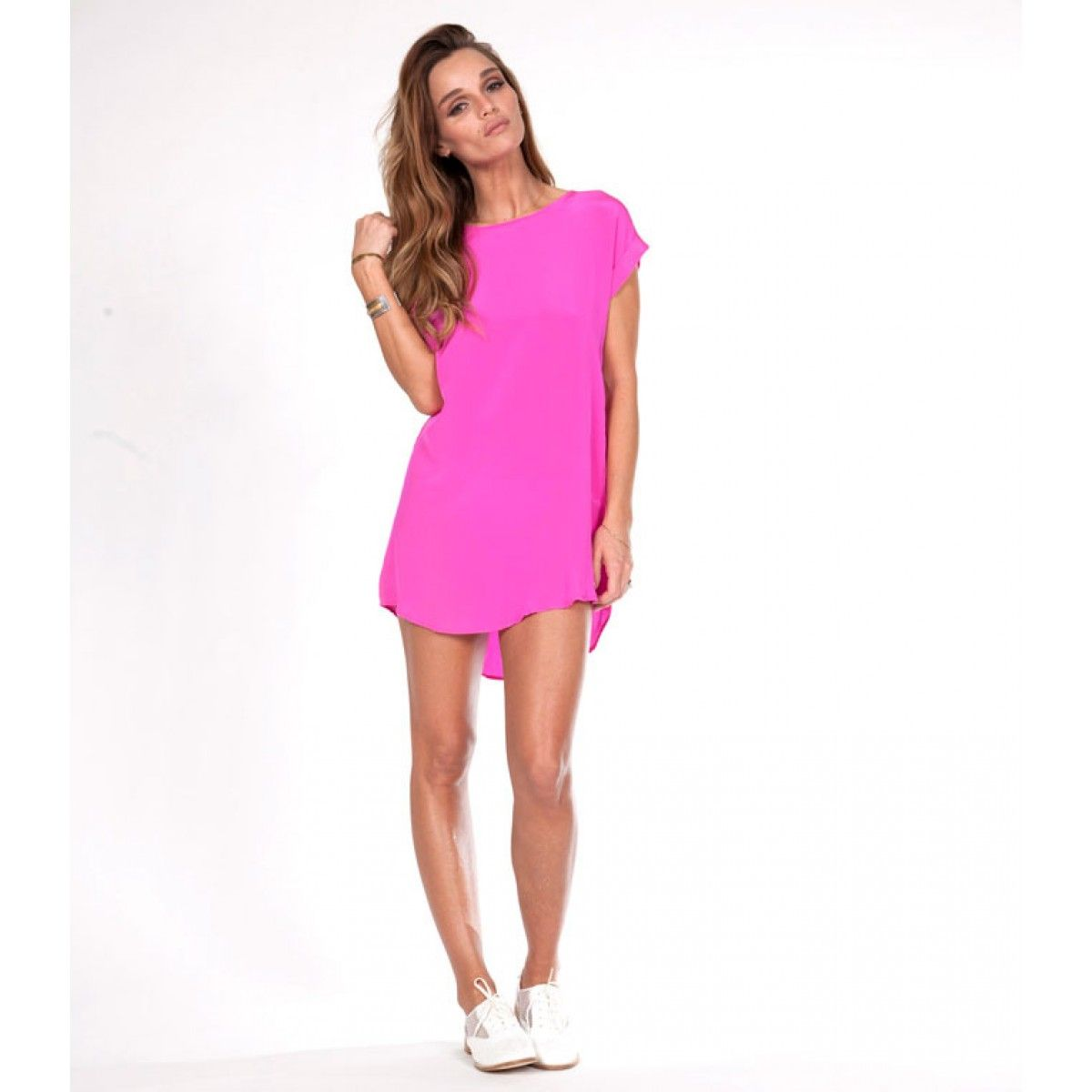 rieley-dallas-tunic-pink-summer-dress-silk | Summer Dresses ...