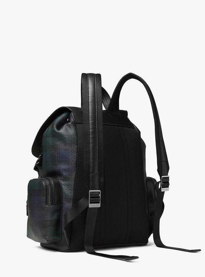c6dddaea690c Michael Kors Henry Tartan Pebbled Leather Backpack | Products ...