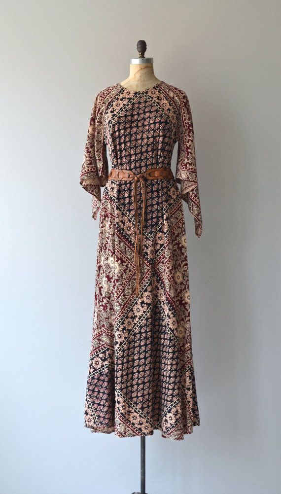 bde9c9c17c Samadhi caftan dress • vintage 1970s india cotton caftan • bohemian ...