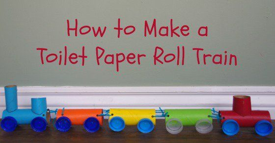 Toilet Paper Roll Train Craft For National Train Day Train Crafts Toddler Crafts Train Activities