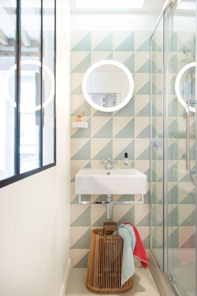 Studio paris 9 16 m2 totalement r nov s par un architecte d 39 int rieur d c o r a t i o n - Chambre de bonne paris 16 ...
