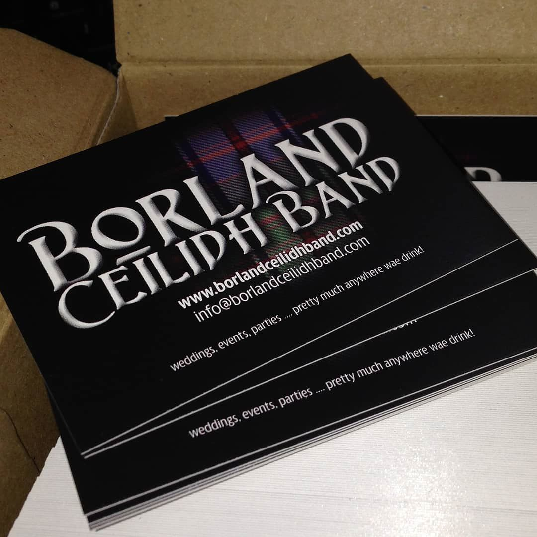 4 years ago today we got our first band business cards ...
