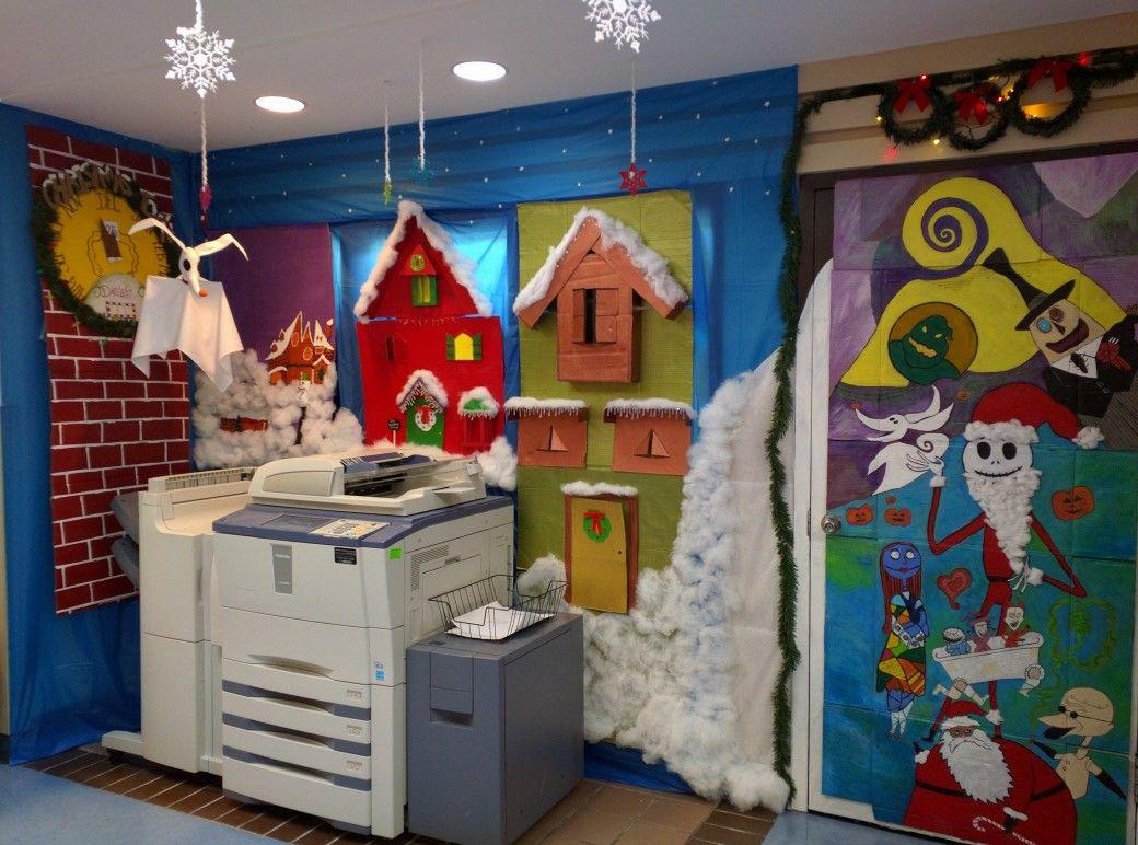 Nightmare Before Christmas Door Decorations Narrow Living Room Design Door Decorating Contest Christmas Hallway