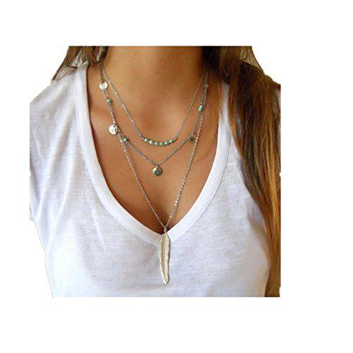Women Multilayer Irregular Pendant Chain Statement Necklace (A) HuntGold http://www.amazon.com/dp/B016URLM12/ref=cm_sw_r_pi_dp_ttl9wb04YWAEN