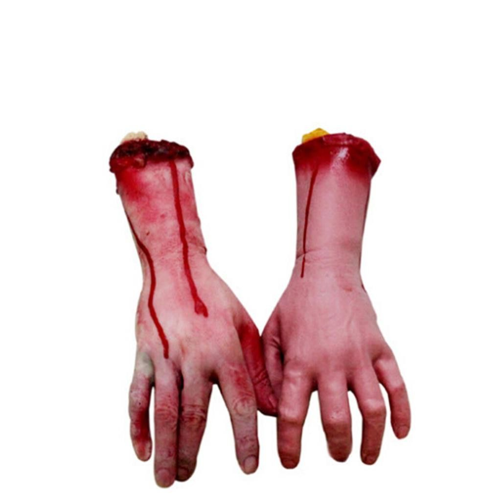 2016 horror halloween decoration severed scary bloody fake hand novelty products new funny gadgets hot sale