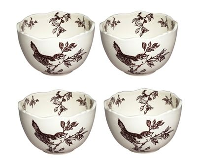 Decorate your table in style with our charming brown bird toile ceramic dinnerware. This set of ceramic bowls is embellished with a classic brown \u2026  sc 1 st  Pinterest & Decorate your table in style with our charming brown bird toile ...