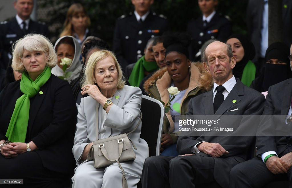The duke of kent right and the duchess of kent centre