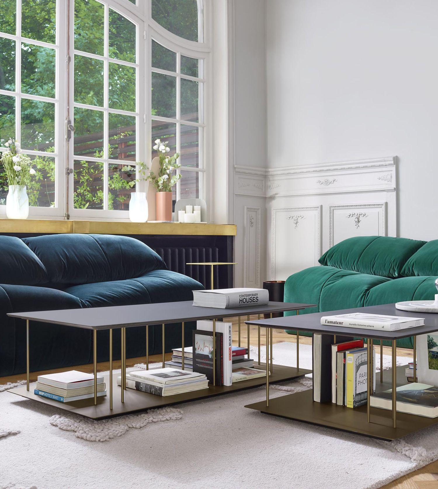 Allegore Low Table In White Or Black Fenix Designed By Marie  # Ligne Roset Meuble Tv