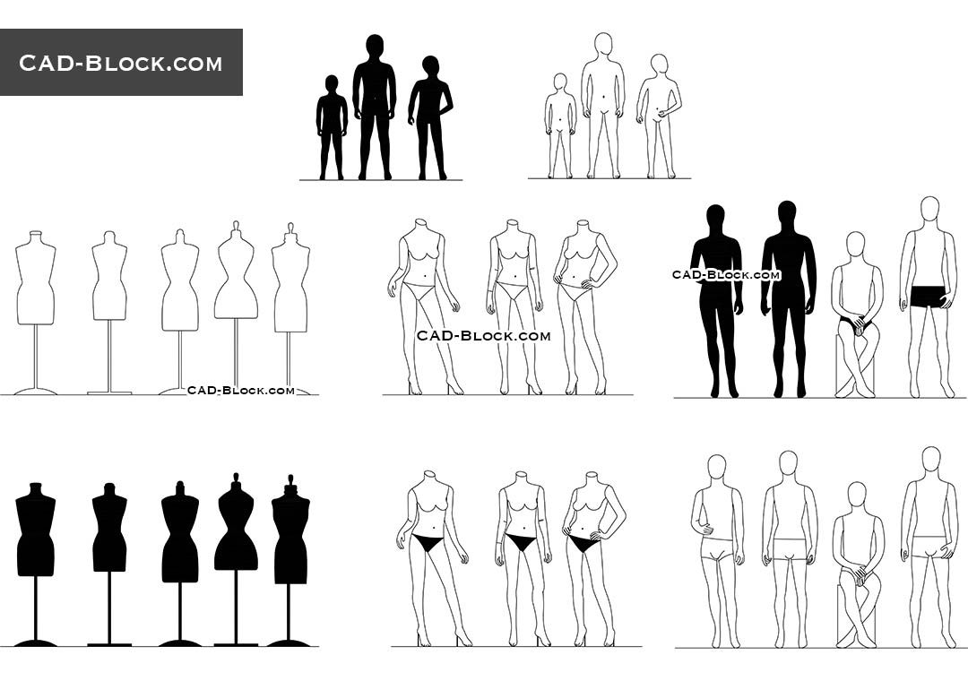 fashion mannequins cad block people pinterest