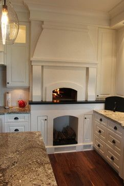 Indoor Wood Fired Pizza Oven Kitchen Design Ideas Pictures Remodel And Decor Farmhouse Kitchen Design Pizza Oven Country Kitchen Farmhouse