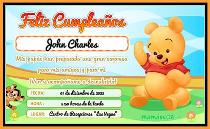 Bautizo Tarjetas De Cumpleaños Para Niños Winnie The Pooh