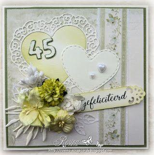 Rosina's Scrapcards: 45 jaar getrouwd