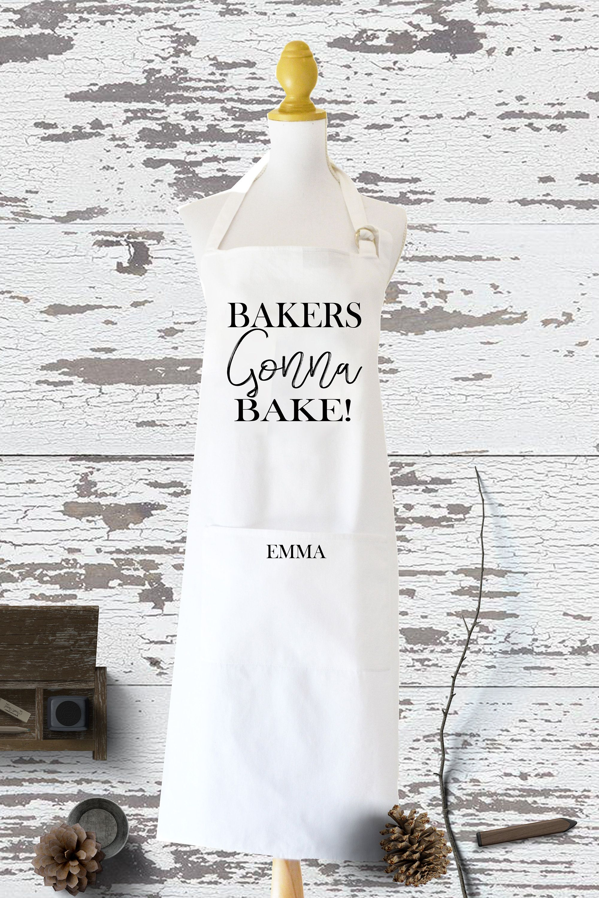 Personalised Apron, Baking Gift Personalized Apron Cooking Gift, Fair trade Gifts, Full Kitchen Apron, Custom Made Kitchen Apron, Kitchen