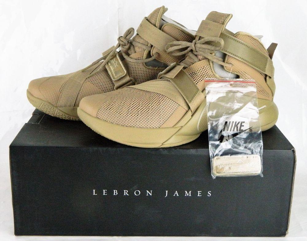 Limited Ed Desert Camo Tan Military Lebron James Soldier IX PRM Nike Shoes  10.5