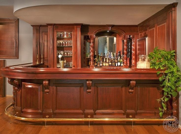 20 Of The Most Lavish Wooden Home Bar Designs   game room ...