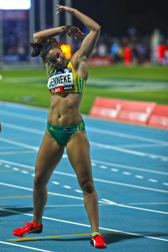 Sexy tan athletic
