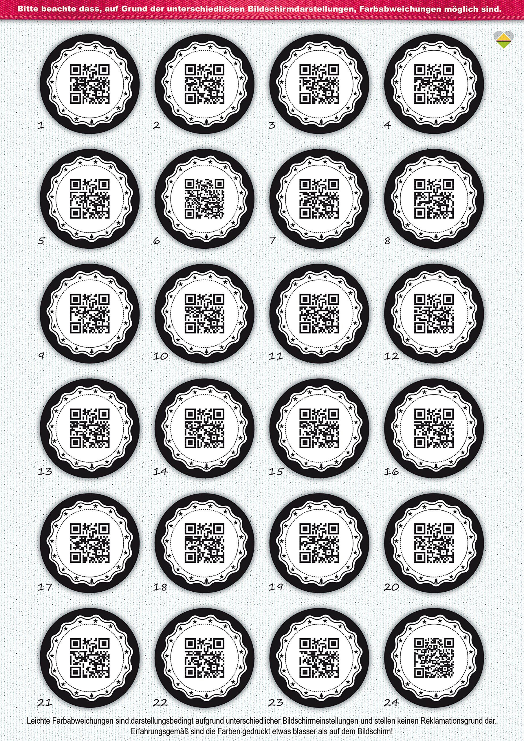 24 adventskalender zahlen originell als qr code. Black Bedroom Furniture Sets. Home Design Ideas