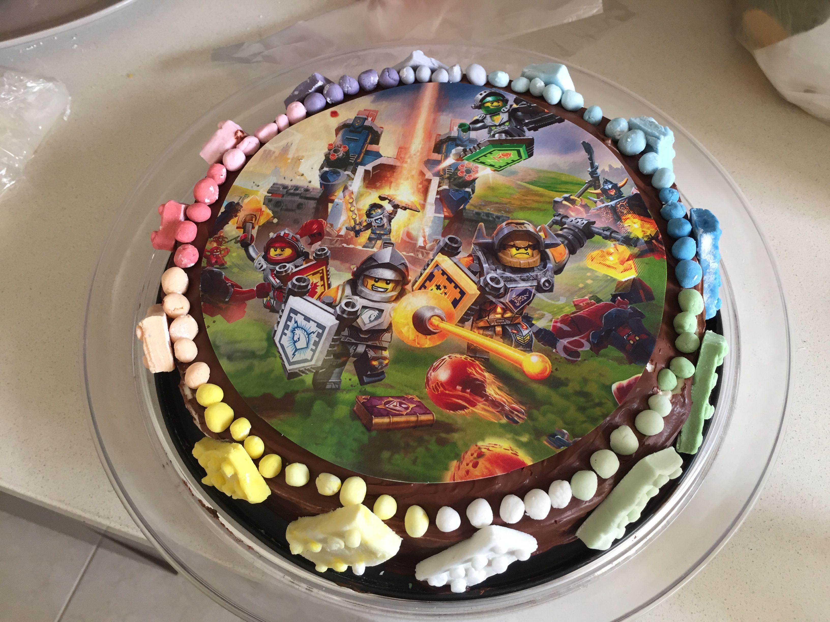 Lego nexo knights cake Cakes Pinterest Knight cake Cake and