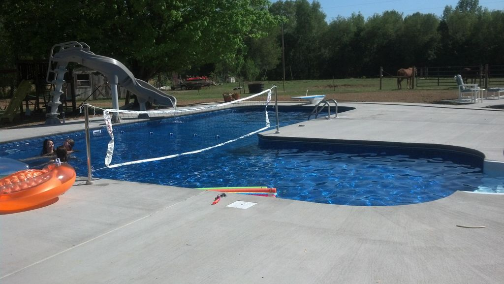Pool Is Beautiful And Clean Clearwater Pool Spa Inground Pool Designs Swimming Pools Backyard Clearwater Pools