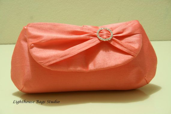 Silk Dupioni / Bridesmaid Clutches Choose your by Lighthousebags