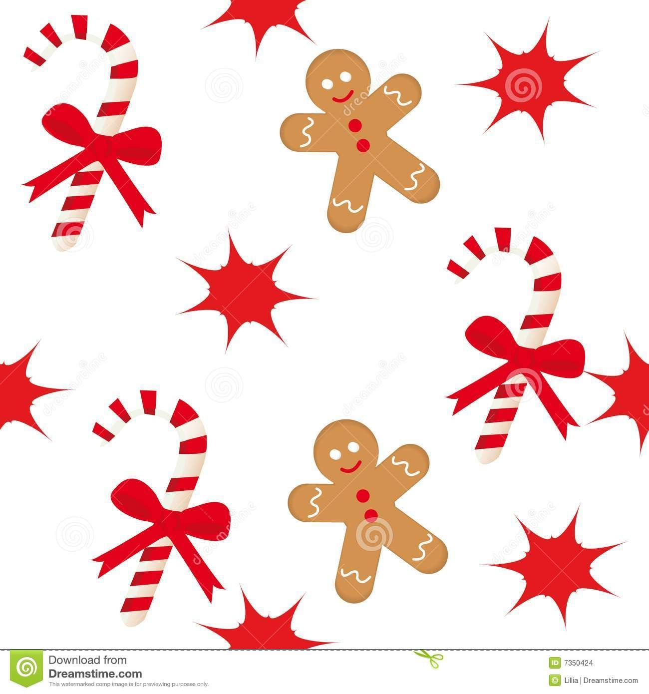 Candy Cane Gingerbread Man