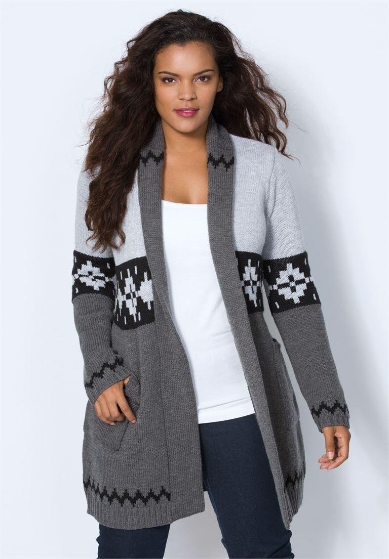 Flannel cardigan womens  Max Cardigan by Denim   Plus Size Get Cozy  Roamans  Wish