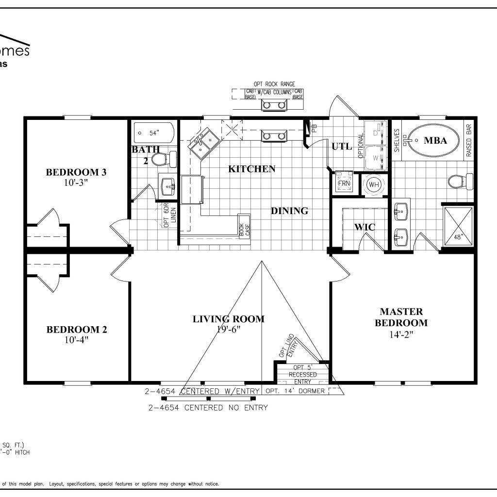 Fleetwood Double Wide Mobile Home Floor Plans | Mobile ...