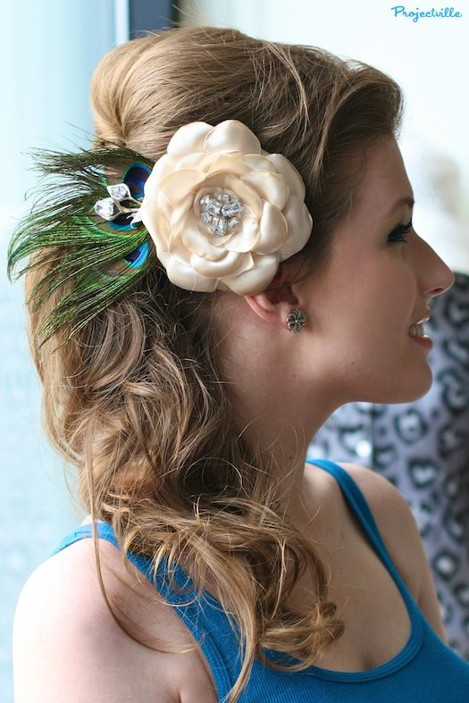 Projectville: Craft, DIY, Art, and Beauty: Kayla's Hair Flower