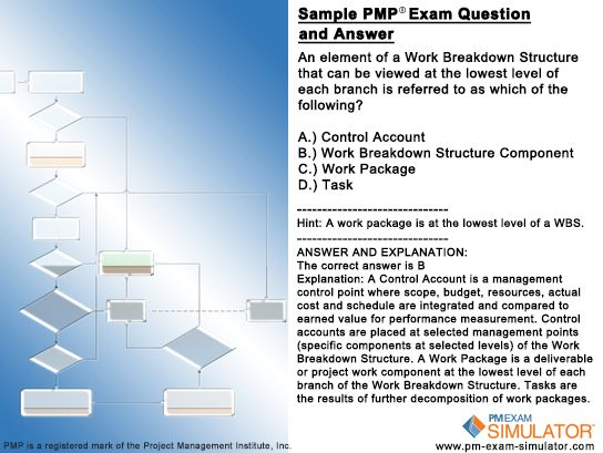 The following #PMP exam question is taken from The Free PM Exam - work breakdown structure sample