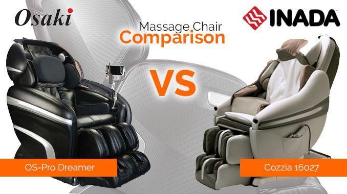 Osaki Os 3d Pro Dreamer Vs Inada Sogno Dreamwave Massage Chair Massage Osaki