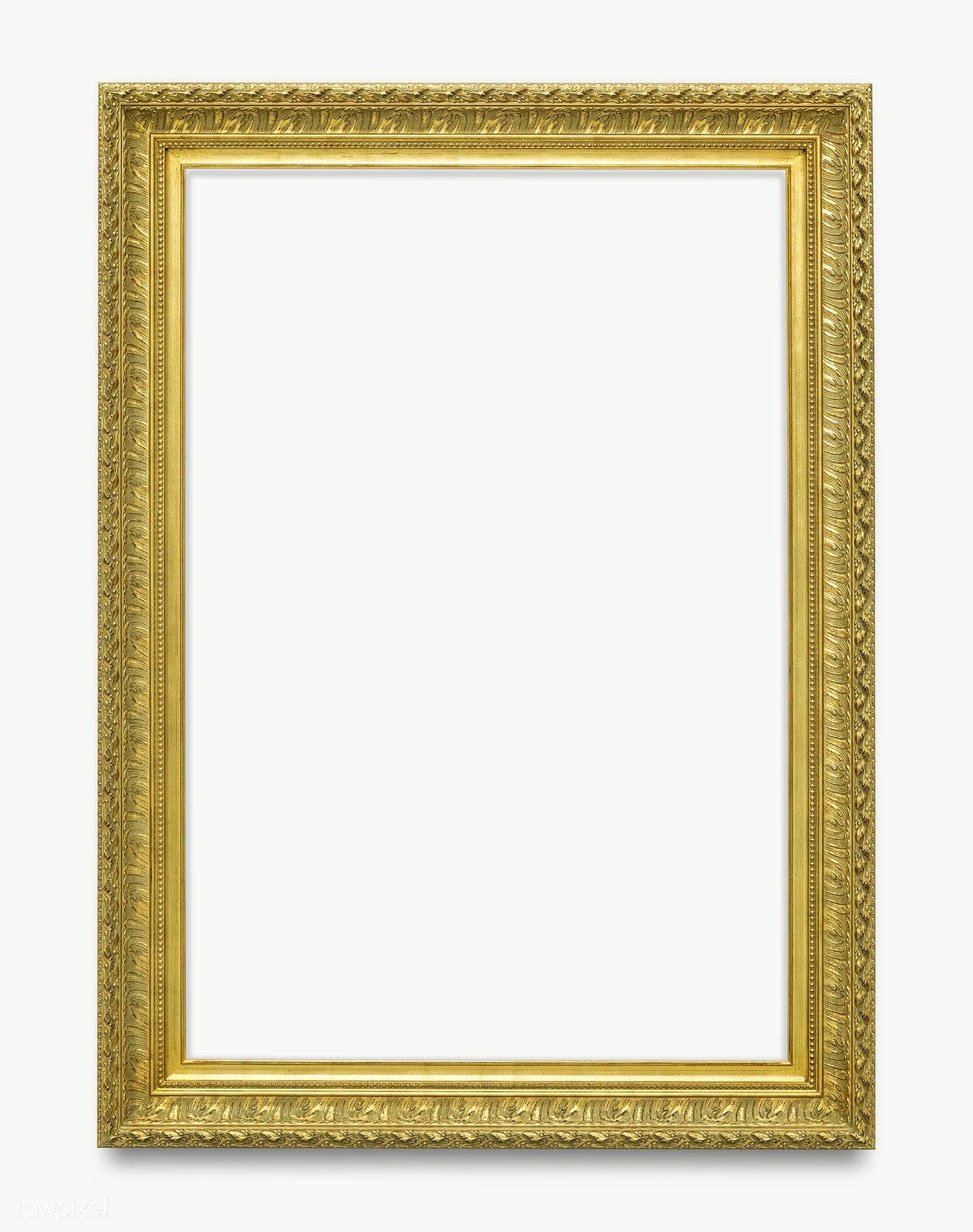 Download Premium Png Of Gold Picture Frame Transparent Png 1230665 Gold Picture Frames Picture Frames Pink Picture Frames