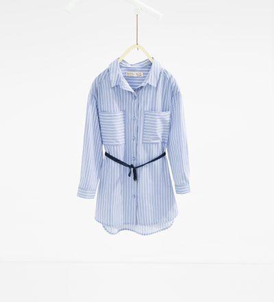 ff1514455aa Robe chemise avec ceinture-ROBES-Fille-Enfants
