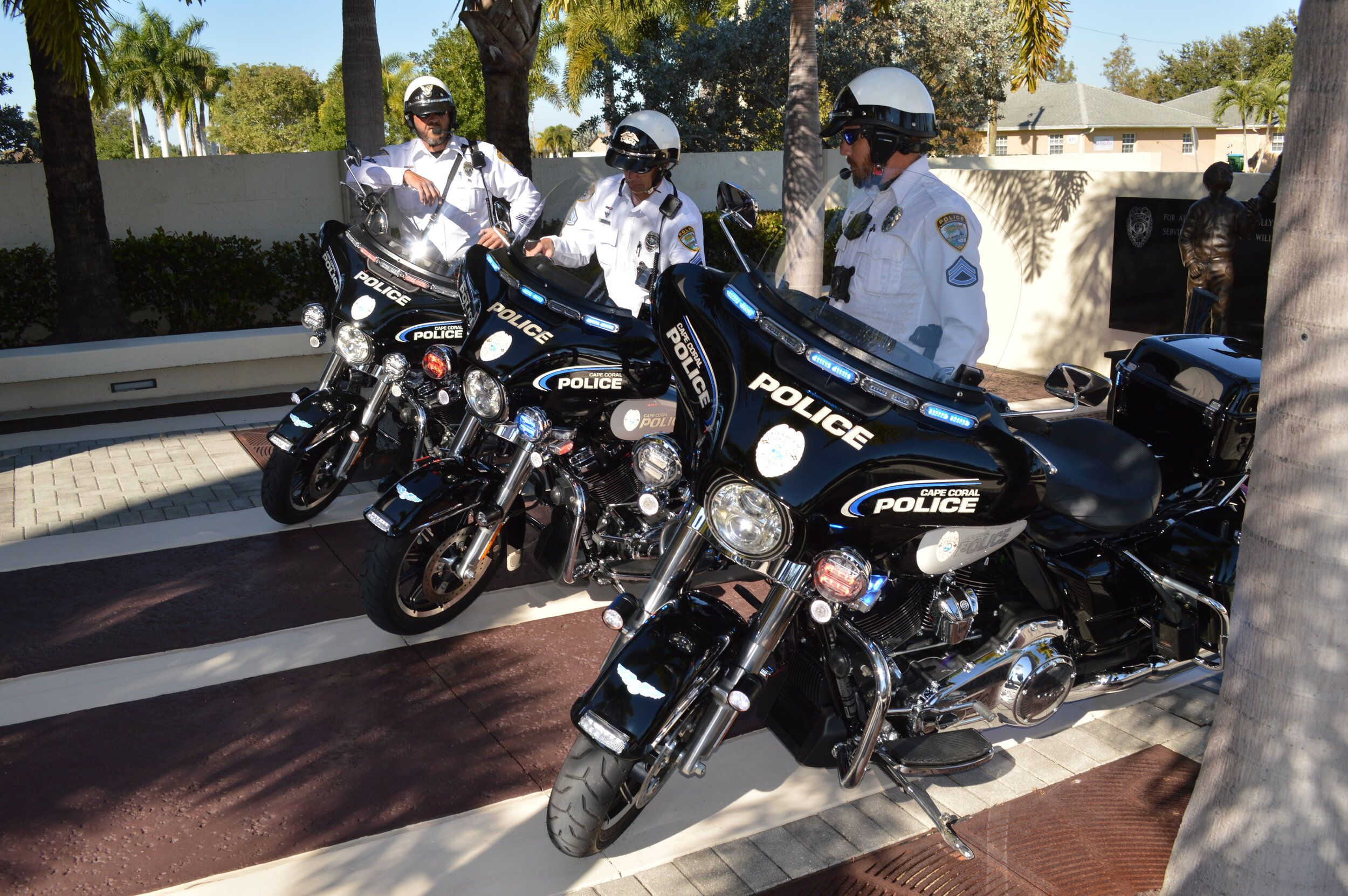 The Cape Coral Police Department Unveils New Harley Davidson Police Motorcycles Cape Coral Police Department Harley Davidson New Harley Davidson Cape Coral