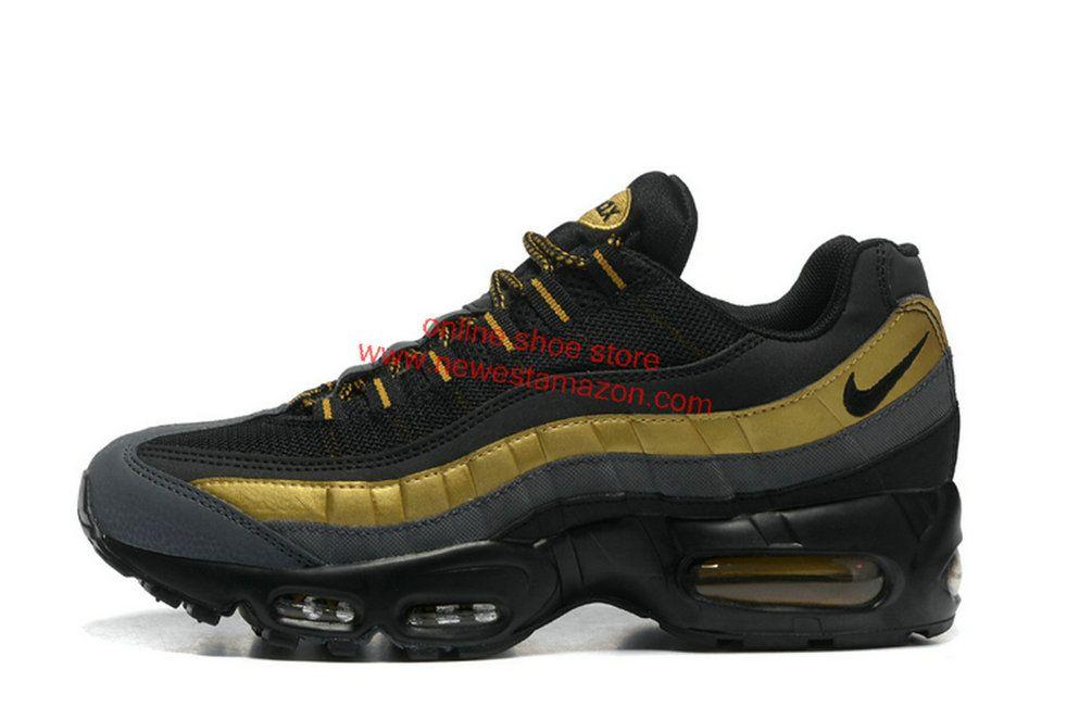 b6c98f2fd483 Nike Shoes Men S Casual Nike Air Max 95 Black Metallic Gold 538416 007 Shoe