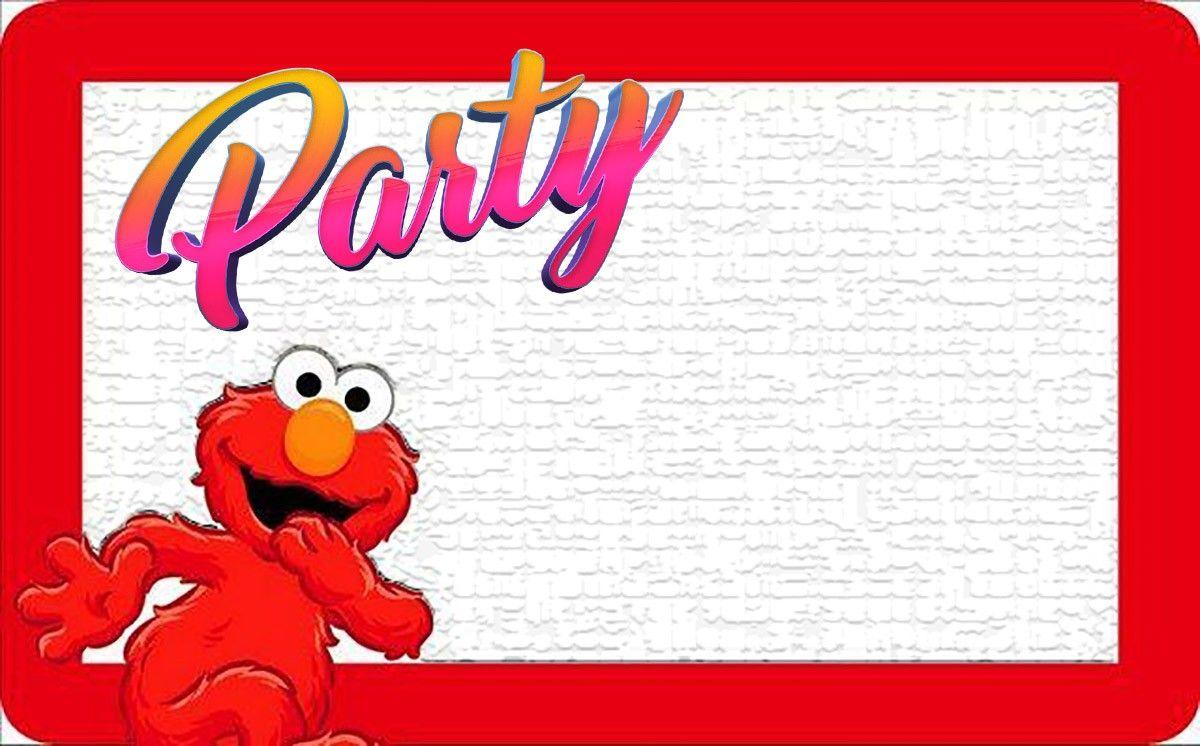 Elmo Birthday Party Invitation Elmo Invitations Online Party Invitations Birthday Card Template