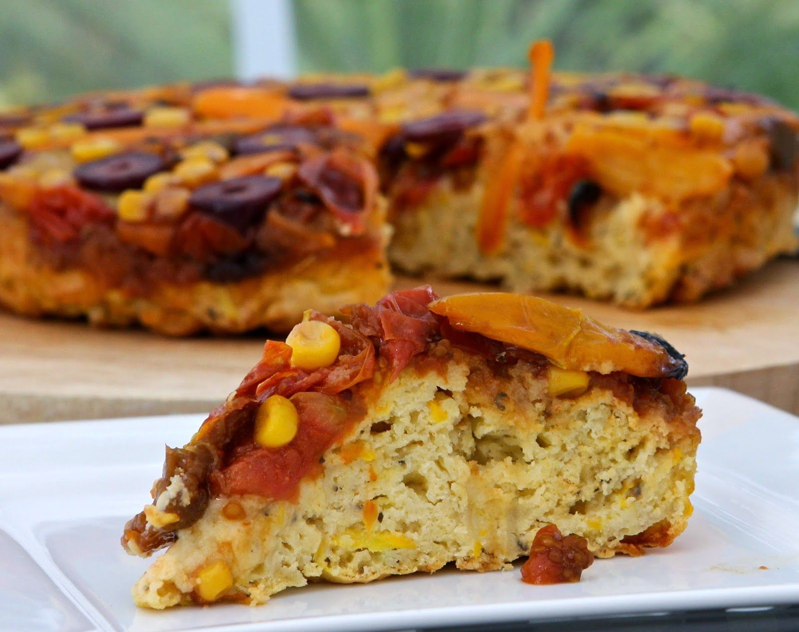 Savoury Summer Upside Down Cake - gluten free