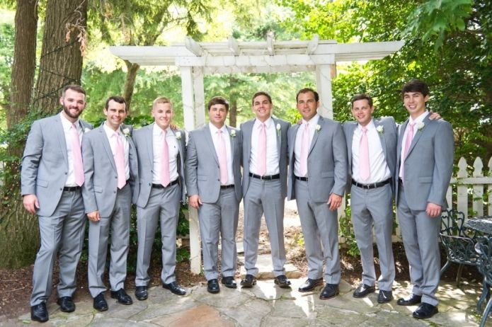Blush Wedding Dress Grey Bridesmaids : Blush pink bridesmaids dresses and wedding