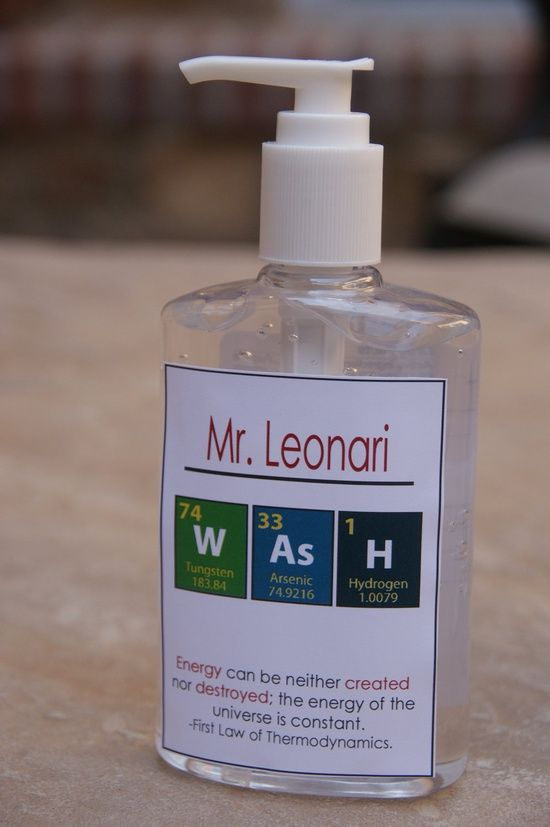 Science chemistry teacher gift customized teacher hand sanitizer science chemistry teacher gift customized teacher hand sanitizer 500 via handmade solutioingenieria Choice Image