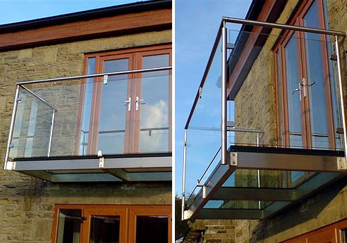 Glass And Stainless Steel Balcony From Our Stainless Steel