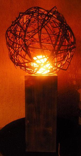 salzkristall lampe stehlampe rustikal ein designerst ck von annegret lindhorst bei. Black Bedroom Furniture Sets. Home Design Ideas