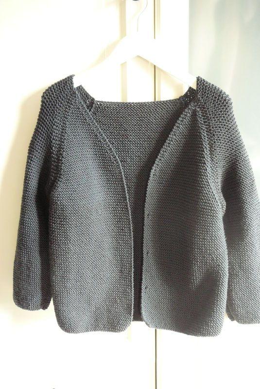 tuto tricot gilet femme facile