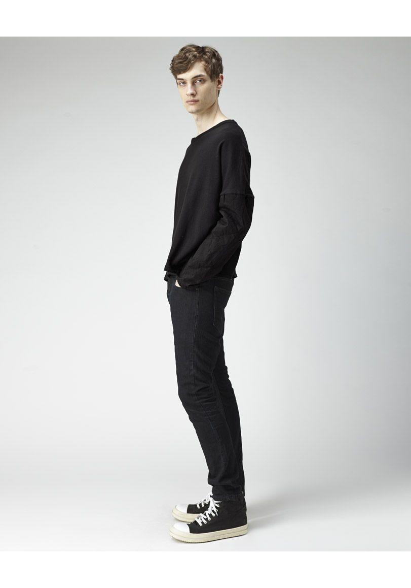 Silent by Damir Doma / Tuga Cropped Sweatshirt | La Garçonne